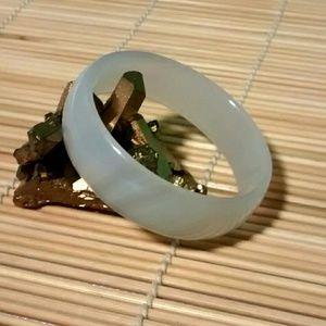 Other - Child's Size Natural White Jade Bangle Bracelet